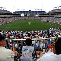 28 May 2007:   Fans attend the NCAA Division I Lacrosse Championship at M&T Bank Stadium.  The Johns Hopkins Blue Jays defeated the Duke Blue Devils 12-11 to win the NCAA Division I Lacrosse championship at M&T Bank Stadium in Baltimore, Md.