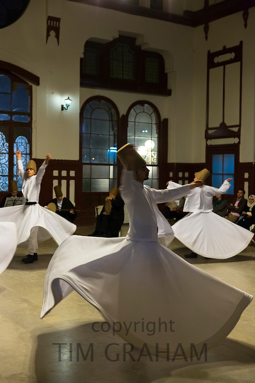Whirling Dervish dance performance - Mevlevi Sema costume ceremony (whirling dervishes) in Istanbul, Republic of Turkey