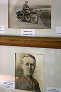 "Old pictures hang on walls inside the former home of T. E. Lawrence, (""Lawrence of Arabia"") Clouds Hill, near Wool, Dorset, southwest England."