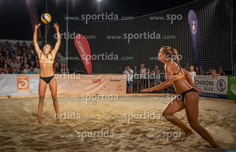 Tjasa Jancar / Tjasa Kotnik and Tajda Lovsin / Nina Lovsin during the match for 1st. place on Beach volley National Championship of Slovenia  on July 20, 2019 in Kranj, Slovenia. Photo by Urban Meglic / Sportida