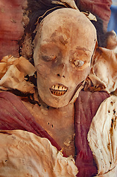 Preserved mummies on display at Regional Museum in Urumqi, Xinjiang, china