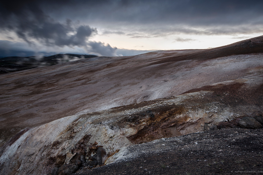 Pastel colored hills in Namafjall. Iceland
