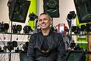 Forest Green Rovers Chairman Dale Vince has his face scanned for FIFA18 during the Forest Green Rovers Photocall at the New Lawn, Forest Green, United Kingdom on 31 July 2017. Photo by Shane Healey.