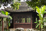 A decorative pavilion in Yu Yuan Gardens Shanghai, China