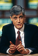 U.S Treasury Secretary Robert Rubin appears on television talk-show NBC's Meet the Press December 8, 1996 in Washington, DC.