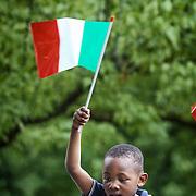 Giornata di festa per la consegna degli attestati di cittadinanza simbolica ai bimbi figli di genitori stranieri nati a Torino nel 2013, alla presenza della Ministra per l'Integrazione Cécile Kyenge.Torino 23 giugno 2013