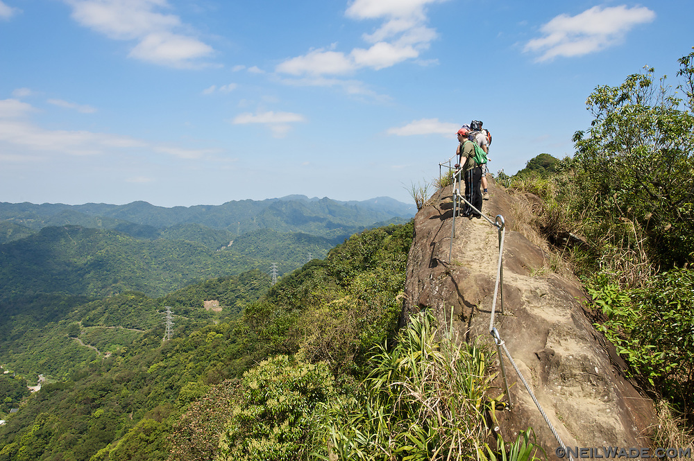 The Huang Di Dian ??? trail has about an hour of these amazing views near Taipei, Taiwan.
