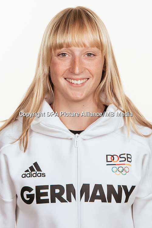 Annika Bochmann poses at a photocall during the preparations for the Olympic Games in Rio at the Emmich Cambrai Barracks in Hanover, Germany, taken on 20/07/16 | usage worldwide