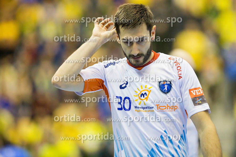 Dragan Gajic #30 of MAHB Montpellier during handball match between RK Celje Pivovarna Lasko (SLO) and MAHB Montpellier (FRA) in Round 8 of EHF Champions League 2014/15, on December 6, 2014 in Arena Zlatorog, Celje, Slovenia. Photo by Urban Urbanc / Sportida