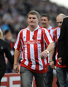 Britannia Stadium Stoke City v Wolverhampton Wanderers  (2-2) 31/10/09.Ricky Fatton! Man City Fan Ricky Hatton  - clearly over his best fighting weight - at the game to promote his brother's fight on November 13th 2009.