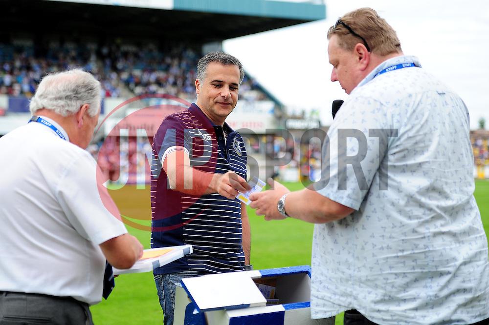 Bristol Rovers' presidentent Wael Al-Qadi draws the half time 50/50 - Mandatory by-line: Dougie Allward/JMP - 14/08/2016 - FOOTBALL - Memorial Stadium - Bristol, England - Bristol Rovers v Oxford United - Sky Bet League One