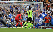 Ipswich Town striker Freddie Sears scores to make it 2-1 during the Sky Bet Championship match between Ipswich Town and Brighton and Hove Albion at Portman Road, Ipswich, England on 29 August 2015.