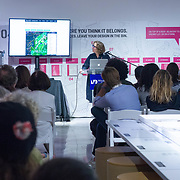 JULY 19, 2018---MIAMI, FLORIDA---<br /> Cynthia Smith (Cooper-Hewitt, Smithsonian Design Museum, Curator of By the People: Designing a Better America), during a lecture in Miami Dade College's Freedom Tower Museum.<br /> (Photo by Angel Valentin/Freelance)