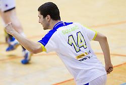 Mario Sostaric of Slovenia during friendly handball match between National Teams of Slovenia and F.Y.R. of Macedonia on December 28, 2013 in Sports hall Polaj, Trbovlje, Slovenia. Photo by Vid Ponikvar / Sportida