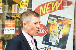 Pictured: Willie Rennie<br /> <br /> Liberal Democrat leader Willie Rennie was in campaign mode when in Edinburgh Western ahead of the second TV leaders' debate. Mr Rennie joined volunteers at a street stand outside the local campaign office in Corstorphine with local candidate Alex Cole-Hamilton. <br /> <br /> Ger Harley | EEm 29 March 2016