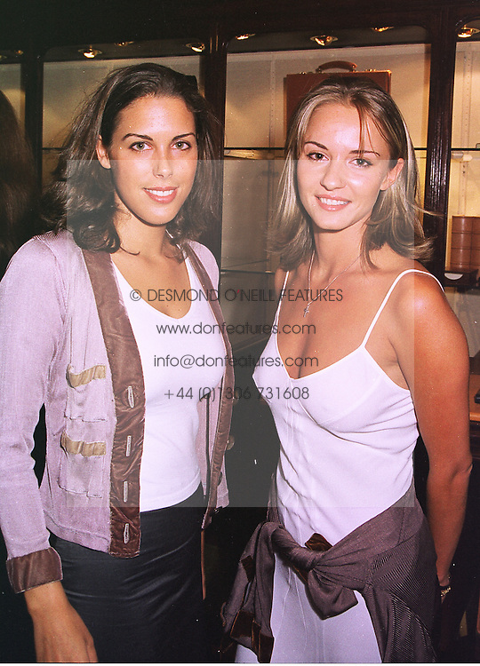 Left to right, MISS JESSICA DE ROTHSCHILD daughter of banker Sir Evelyn de Rothschild and MISS CAROLINE HICKMAN, at a party in London on 1st September 1998.MJN 82