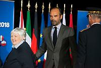 Edouard Philippe. Premier ministre de l'interieur<br /> Jacqueline Gourault, Ministre aupres du ministre d'Etat, ministre de l Interieur.<br /> Enjeux migratoires / Securite et lutte contre le terrorisme<br /> Une reunion du G6 associant les ministres de l Intérieur des six plus grands pays de l'UE (France, Allemagne, Royaume Uni, Espagne, Italie, Pologne), le Commissaire europeen a la Sécurité et le Commissaire europeen aux Migrations, ainsi que le Procureur general des Etats-Unis et une representante de la Secretaire americaine a la securite intérieure, a lieu les 8 et 9 octobre a Lyon.