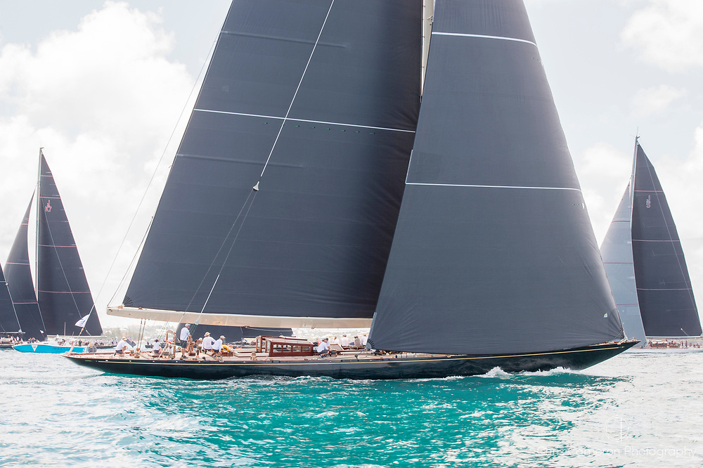 The Great Sound, Bermuda, 17th June America's Cup J Class parade.