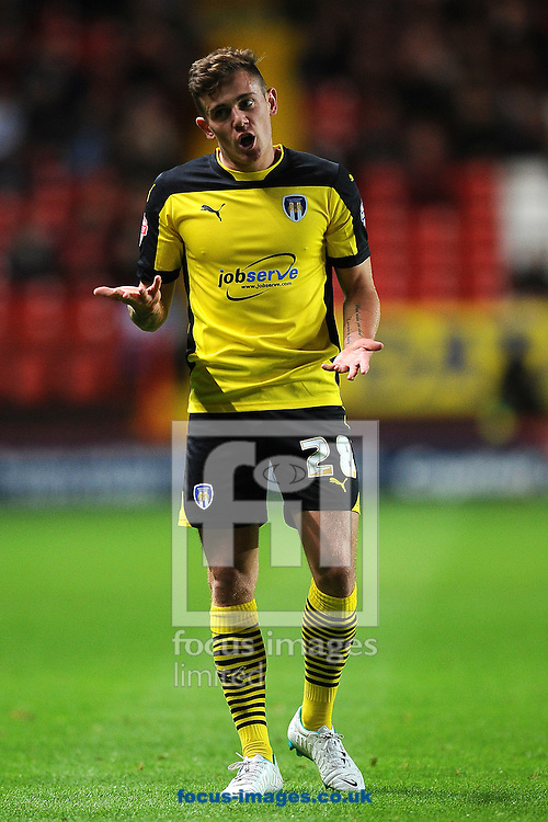 Sammie Szmodics of Colchester United during the Capital One Cup match at The Valley, London<br /> Picture by Richard Blaxall/Focus Images Ltd +44 7853 364624<br /> 12/08/2014