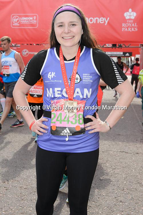 Megan Ramsay. The Virgin Money London Marathon, 23rd April 2017.<br /> <br /> Photo: Joanne Davidson for Virgin Money London Marathon<br /> <br /> For further information: media@londonmarathonevents.co.uk