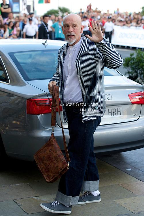 John Malkovich arrives to Maria Cristina Hotel during 62nd San Sebastian Film Festival on September 21, 2014 in San Sebastian, Spain.