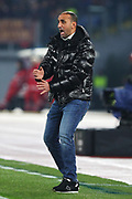 Wolfsberg head coach Mohamed Sahli during the UEFA Europa League, Group J football match between AS Roma and Wolfsberg AC on December 12, 2019 at Stadio Olimpico in Rome, Italy - Photo Federico Proietti / ProSportsImages / DPPI