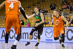 Erjon Kastrati of Petrol Olimpija during Basketballl match between Petrol Olimpija Ljubljana and KK Cedevita in Round #18 of ABA League, on January 27, 2018 in Tivoli sports hall, Ljubljana, Slovenia. Photo by Urban Urbanc / Sportida