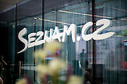 The logo of Seznam.cz  at the reception at the headquaters of the web portal Seznam.cz located in Prague Smichov. Employees are allowed and welcome to take their dogs with them to work. Seznam.cz is a web portal and search engine in the Czech Republic. Founded in 1996 by Ivo Lukačovič in Prague as the first web portal in the Czech Republic. Seznam started with a search engine and an internet version of yellow pages. Today, Seznam runs more than 15 different web services and associated brands. Seznam had more than 6 million real users per month at the end of 2014.[3] Among the most popular services, according to NetMonitor, are its homepage seznam.cz, email.cz, search.seznam.cz and its yellow pages firmy.cz