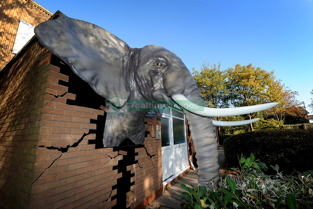 A world record breaking elephant sculpture stopped people in their tracks on a suburban street as passers-by stopped for a closer look. The almost four-metre-tall beast — mounted outside a printing company in Birmingham, UK — is destined to set a new record as the biggest animal sculpture created by a 3D printing machine. The technological marvel is perfectly life like, though larger than most elephants in the wild and as a permanent sculpture, is set to become a new landmark for the UK's second. largest city. The animal is mounted high on the wall of creative print company, Andesign, and is shown smashing through the building's brickwork out onto the street. Unveiled by Sutton Coldfield MP Andrew Mitchell, a crowd of 100 gathered to see the spectacular pachyderm revealed to the public for the first time. Mr Mitchell said of the sculpture: 'This is a properly astonishing spectacle and a measure of the great ingenuity that typifies British industry and the very clever creative people who work here. Isn't it incredible what has been achieved with a print machine ? 'In fact, it's so lifelike that my dog is completely terrified to come out of the car or anywhere near the thing.' The African elephant was created by the world's biggest and fastest 3D printing machine, which can duplicate absolutely any object imaginable in the tiniest detail by printing line upon line of a special resin. The as yet unnamed elephant was created over five days of continuous printing and is the biggest animal ever created by a printing machine. Delighted bosses at Andesign await confirmation from the Guinness Book of Records but are refusing to rest on their laurels with even bigger and better projects now lined up. 'The elephant has been a tremendous experience and incredible hard work,' said Andesign MD Garry Hassell. 'But the sky is the limit for us now and we'll keep looking to create more and more incredible things. 'You never know, we even might try to print a blue