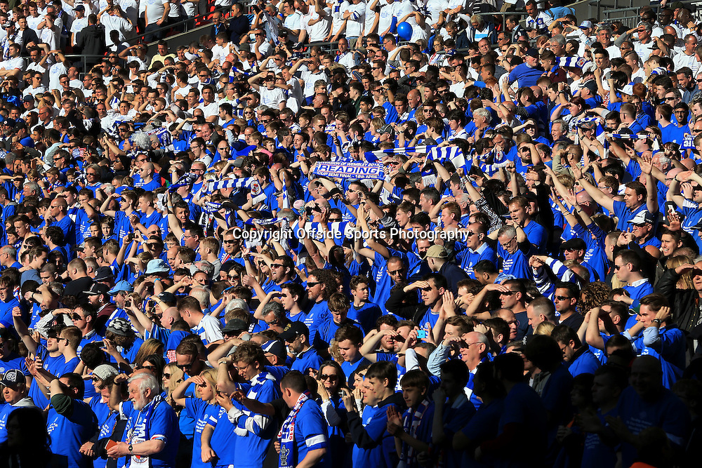 18th April 2015 - FA Cup - Semi-Final - Reading v Arsenal - Reading fans in the sun - Photo: Simon Stacpoole / Offside.