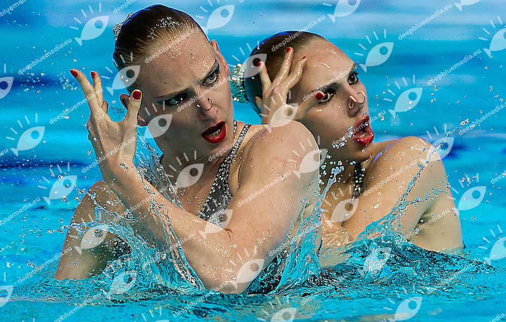 KOLESNICHENKO Svetlana, ROMASHINA Svetlana Russia RUS<br /> 27th Summer Universiade <br /> 5 - 17 July 2013 Kazan Tatarstan Russia<br /> Day 03 Synchronized swimming duet technical <br /> Photo G. Scala/Insidefoto/Deepbluemedia.eu