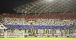 30.07.2015, Stadion Poljud, Split, CRO, UEFA EL, Hajduk Split vs Stroemsgodset IF, Qualifikation, 3. Runde, Hinspiel, im Bild Übersicht auf das Stadion, Fans, Choreographie // during the UEFA Europa League Qualifier 3rd round, 1st Leg Match between Hajduk Split and Stroemsgodset IF at the Stadion Poljud in Split, Croatia on 2015/07/30. EXPA Pictures © 2015, PhotoCredit: EXPA/ Pixsell/ Ivo Cagalj<br /> <br /> *****ATTENTION - for AUT, SLO, SUI, SWE, ITA, FRA only*****