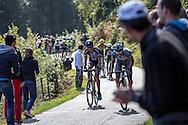 The Muro di Sormano climb during the Lombardia 2015 (Bergamo - Como)