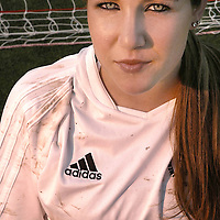 Jocelyn poses for the resting athelete assignment at Ventura College in Ventura Calif., on March 27, 2006. (Photography by Joseph Cisneros/ Brooks Institute of Photography)