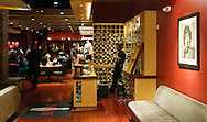 The bowling shoe rental area, at right, and the bar area at Lucky Strike Lanes at the Palisades Center mall in West Nyack on Jan. 12, 2007.