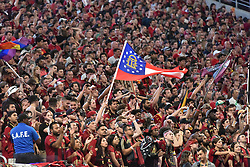 September 16, 2017 - Atlanta, GA, USA - Atlanta, Georgia - Saturday, September 16, 2017: Atlanta United tied Orlando FC, 3-3, in Mercedes Benz Stadium, in front of a new MLS single-match attendance record crowd of 70,425, extending the team's home unbeaten streak to nine matches. (Credit Image: © Perry Mcintyre/ISIPhotos via ZUMA Wire)