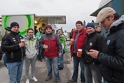 Fans before 5th game of final INL league ice hockey match between HK Playboy Slavija and EHC Bregenwald at Dvorana Zalog, on April 3, 2013, in Ljubljana, Slovenia. (Photo by Matic Klansek Velej / Sportida)