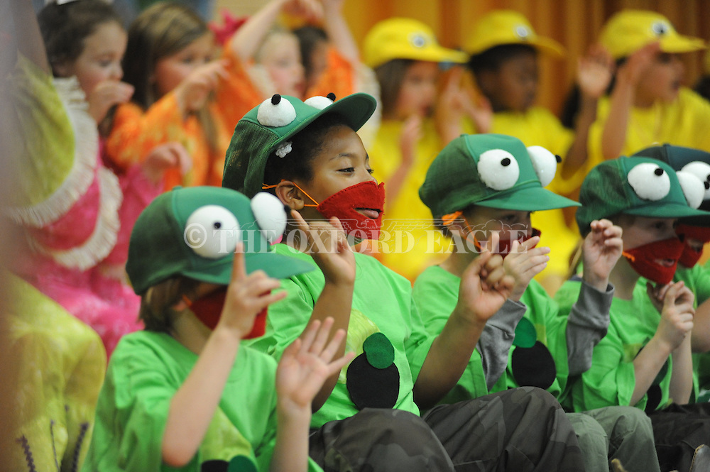 Bramlett Elementary students perform the play Wide Mouthed Frogs in Oxford, Miss. on Friday, March 20, 2015.