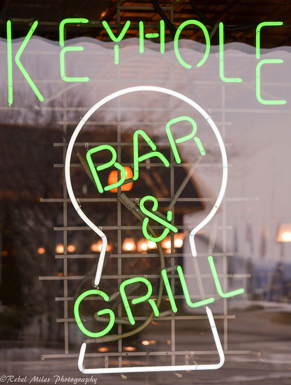 Keyhole Bar In Mackinac City Michigan.