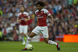 August 2, 2018 - Dublin, Ireland - Mohamed Elneny of Arsenal controls the ball during the International Champions Cup match between Arsenal FC and Chelsea FC at Aviva Stadium in Dublin, Ireland on August 1, 2018  (Credit Image: © Andrew Surma/NurPhoto via ZUMA Press)