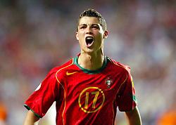June 24, 2004 - PORTUGAL - 040624 Fotboll, EM: Cristiano Ronaldo, Portugal, jubel..© BildbyrŒn - Cop 31. (Credit Image: © Bildbyran via ZUMA Press)
