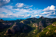 Serra de l'Obac seen from Turó de la Mamella, a ridge at 806m Parc Natural de Sant Llorenç del Munt i l'Obac