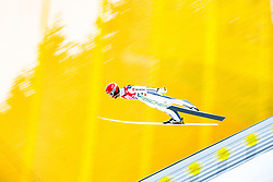 12.01.2018, Kulm, Bad Mitterndorf, AUT, FIS Skiflug Weltcup, Training, im Bild Markus Eisenbichler (GER) // Markus Eisenbichler of Germany during his Practice Jump of FIS Ski Flying World Cup at the Kulm, Bad Mitterndorf, Austria on 2018/01/12, EXPA Pictures © 2018, PhotoCredit: EXPA/ Dominik Angerer