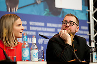 Actress, Screenwriter, Nele Mueller-Stöfen and Producer Jan Krüger at the press conference for the film All My Loving at the 69th Berlinale International Film Festival, on Saturday 9th February 2019, Hotel Grand Hyatt, Berlin, Germany.