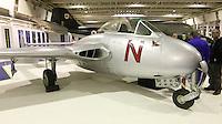 De Havilland Vampire F3 VT812, Royal Air Force Museum Hendon - Open Cockpits, 11 March 2014, Photo by Richard Goldschmidt