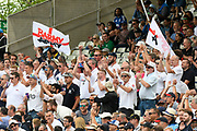 The Barmy Army singing Jerusalem during the ICC Cricket World Cup 2019 semi final match between Australia and England at Edgbaston, Birmingham, United Kingdom on 11 July 2019.