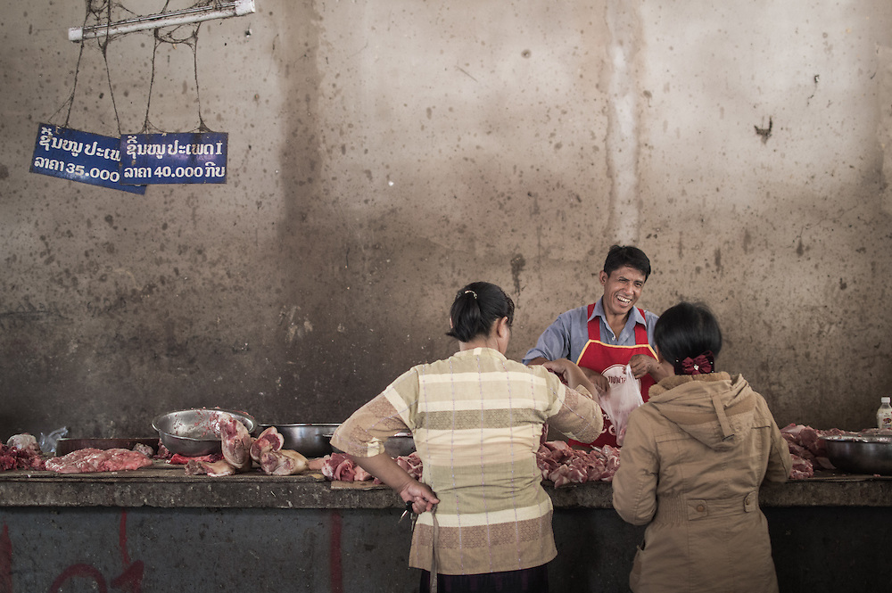 The Happy Butcher |  Luang Namtha, Laos