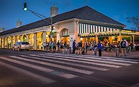 NEW ORLEANS - CIRCA FEBRUARY 2014: Famous Cafe Du Monde at night in New Orleans, Louisiana.