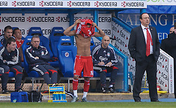 Reading, England - Saturday, April 7, 2007: Liverpool's Jermaine Pennant prepares to come on as a substitute against Reading during the Premier League match at the Madejski Stadium. (Pic by David Rawcliffe/Propaganda)