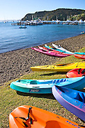 kayaks at Russell waterfront